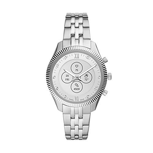 Fossil Women's 38mm Scarlette Mini Stainless Steel Hybrid HR Smart Watch, Color: Silver (Model: FTW7041)