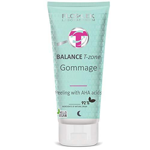 FLOSLEK Gommage Fruchtsäurepeeling Gesichts-Peeling Haut mit AHA-Säuren | 125 g | Gesichtsmaske | Mitessern, Pickeln & Pusteln | Hautpflege für Menschen jeden Alters | Für alle Hauttypen