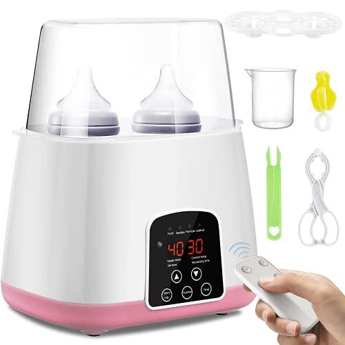 SaponinTree Scaldabiberon Sterilizzatore Elettrico, 6 in 1 Scaldabiberon Bottiglie Multifunzione Sterilizzatore con Display LCD Funzione e Touchscreen Termostato, Riscaldamento Ultraveloce