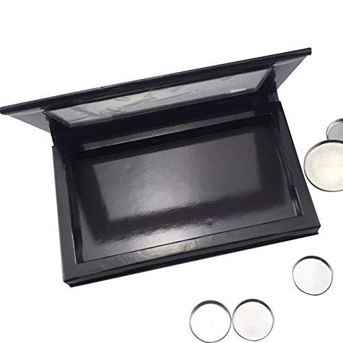 WSDF Magnetische Make-up Palet, Oogschaduw Pan Houder Cosmetica Opbergtas, Lege Make-up Palet voor Eyeshadow Highlighter Concealer Lipstick Blush Poeder (Zwart)
