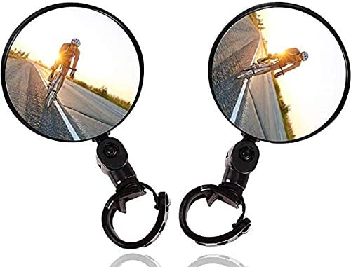 2PCS Bike Mirrors Safe Rearview Mirror Bicycle Cycling Rear View Mirrors Adjustable Rotatable product image
