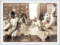 ポスター ジョン バション Hot Summer in the City 1940 額装品 ウッドハイグレードフレーム(ホワイト)
