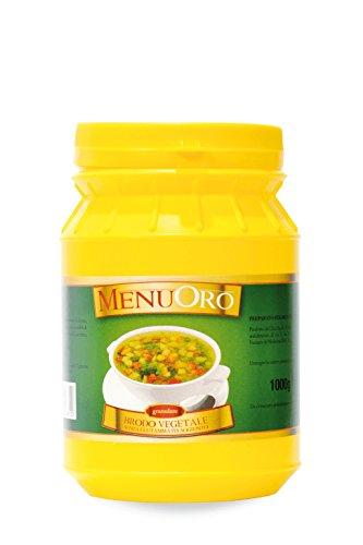 Menuoro - Brodo Vegetale Senza Glutammato Granulare - Barattolo 1Kg