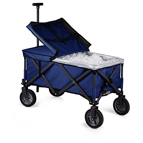 ONIVA - a Picnic Time Brand Collapsible Adventure Wagon Elite, Navy/Gray