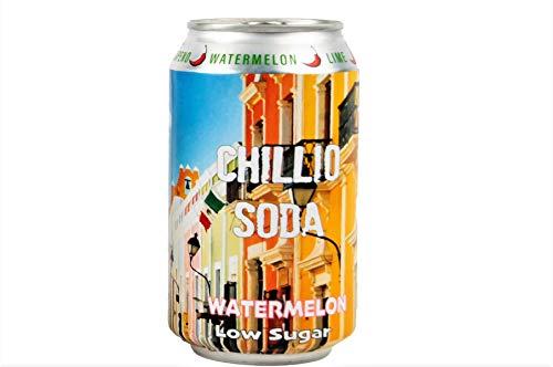 Peperoncino Anguria, Cantaloupe, Mela con Jalapeno Chilli, Soda artigianale non alcolica - basso contenuto di zucchero, basso contenuto calorico, senza additivi - (6x330 ml).