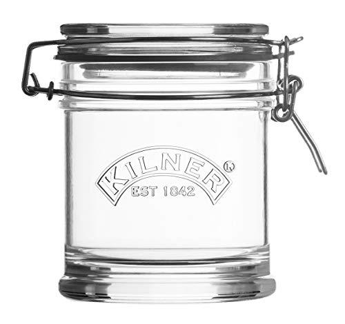 Kilner Signature Bügelverschluss Glas, 450 ml Einkochglas, Durchsichtig