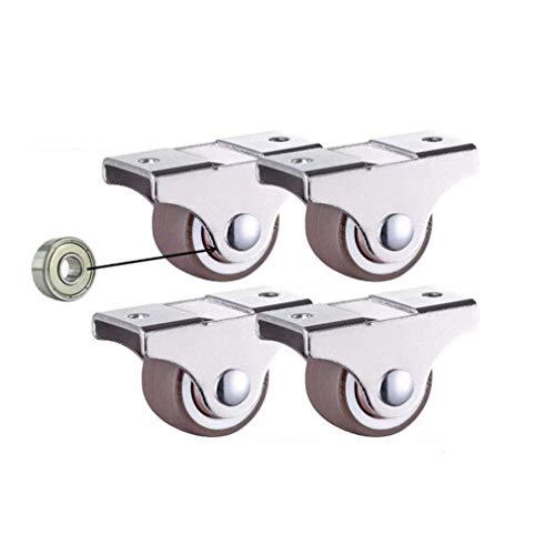 Rollen-Schublade, kleine Riemenscheibe, 2,5 cm, direktionales Rad mit Kugellager, Gummi-Dämpferrad (Farbe: -,...