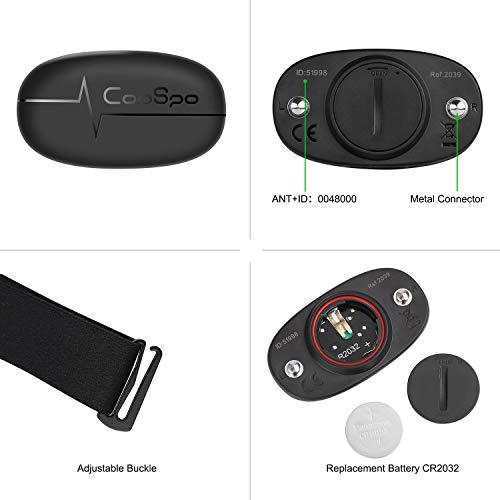 CooSpo IP67 Brustgurt Batterie