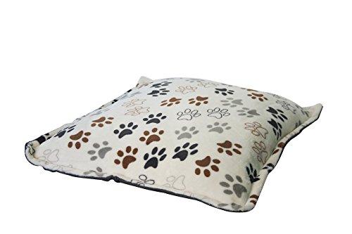Fancypets TX10503 - Colchón Flannel con Huesos, Huellas, 75 x 75 cm (Colores aleatorios)