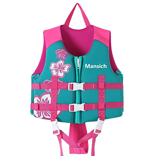 Children Float Swimming Kids Swim Vest Life Jacket Swimming Aid for Toddlers Water Sports Life Jacket Vests for Child Boys Girls 1-12 Years/20-80Lbs (Pink, L(Height: 110/125 cm 40-70Lbs 6-9 Years))