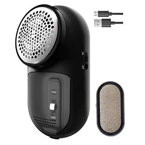 AIRMSEN Fusselrasierer, Fusselentferner 2 in 1 Fusselrasierer elektrisch mit USB Kabel, 3-Blattklinge aus rostfreiem Stahl, schnell und effektiv Flusen für Bettwäsche, Kleidung und Möbel entfernen