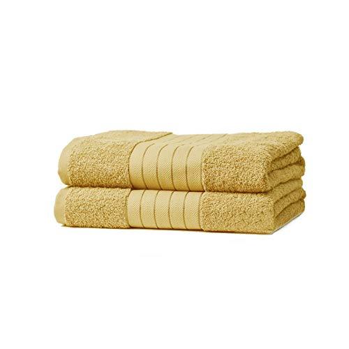 Todd Linens 2-Piece Bale BathSheet Gift Set – 500 GSM 100% Cotton Absorbent Black Bathroom Accessories (Black, 2 Pcs Bath Sheet)