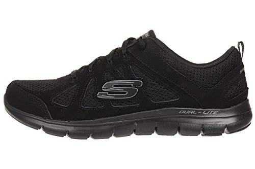 Skechers Flex Appeal Simplistic, Zapatillas Mujer, Negro y Blanco, 36 EU