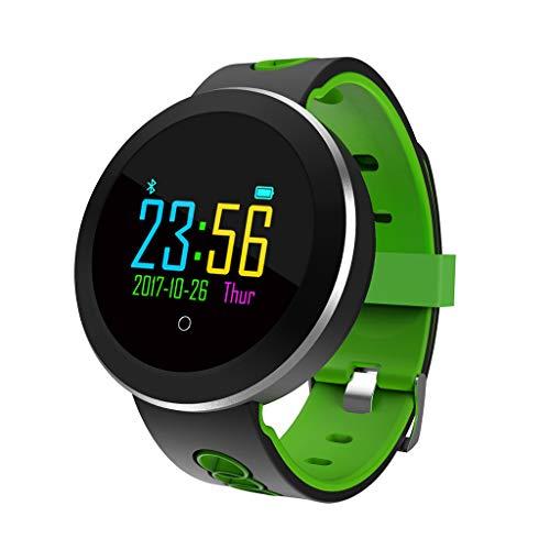 Flashing lights Fitnesstracker voor sport, stappenteller met Smart Bluetooth rond, met monitor voor de hartslag, voor dames en heren, groot scherm waterdicht