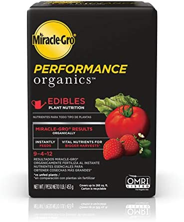 Miracle Gro Performance Organics Edibles Plant Nutrition Organic Plant Food Feeds Instantly product image