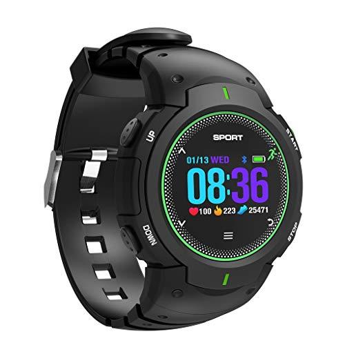 QKAGK digitale herenhorloge, 50 m, waterdicht sporthorloge met wekker/stappenteller/hardloopvermogen/multisportmodus, voor mannen