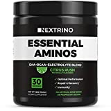 Nextrino Essential Aminos EAA Supplement - Transparent Ingredients, Complete EAA & BCAA Essential Amino Acid Powder Drink with Electrolytes (Citrus Rush)