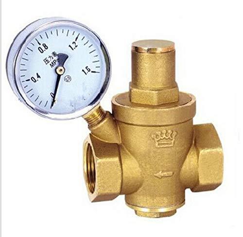 """HGFHGD DN20 3/4""""Messingwasserdruckregler mit Manometer-Halteventil"""