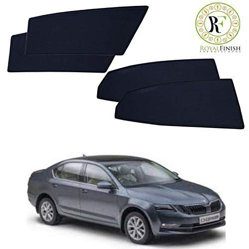 Royal Finish Z Black Car Window Sun Shades for Skoda New Octavia (Black) - Set of 4 Pcs