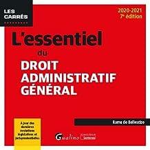 Livres L'essentiel du droit administratif général PDF