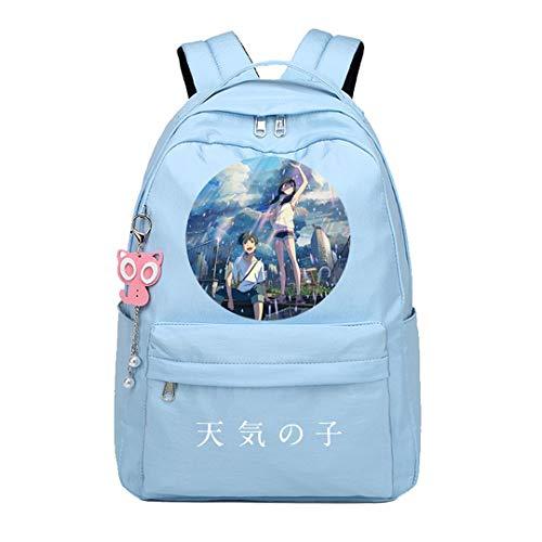 Anime Weathering with You Tenki no Ko Rucksack Cosplay Bookbag Daypack Laptop Tasche Schultasche
