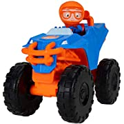 """Blippi Monster Truck Mobile - Mini Vehicle with Freewheeling Features Including 2"""" Character Toy Figure and Cool Hydraulics - Imaginative Play for Toddlers and Young Children"""