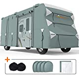 KING BIRD Upgraded Class C RV Cover, Extra-Thick 5 Layers Anti-UV Top Panel, Durable Camper Cover, Fits 20'- 23' Motorhome -Breathable, Water-Proof, Rip-Stop with 2Pcs Extra Straps & 4 Tire Covers