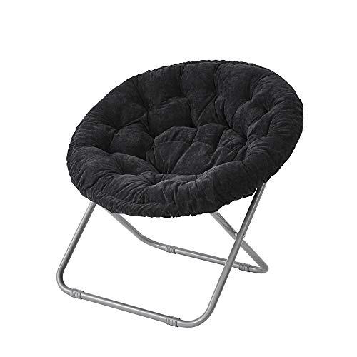 Comfort Padded Moon Chair - Black