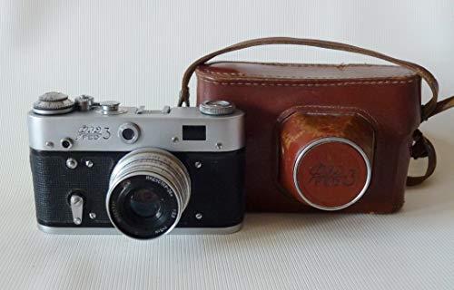 FED-3 UdSSR Sowjetunion Russisch RF 35mm Leica Kopier-Film-Kamera in Original-Leder-Etui