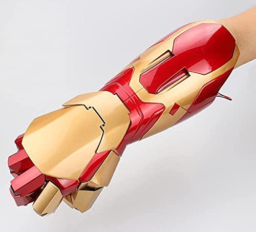 FIOXOO El Nuevo Armadura de muñeca usable electrónica Gauntlet 1: 1 Exclusive Iron Man Cosplay Props Regalo para Halloween