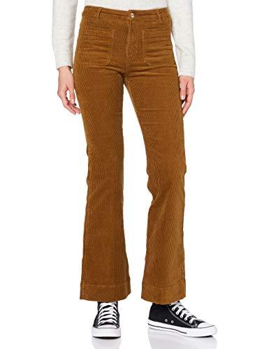Wrangler Flare Pantaloni Casual, Marrone, 26W x 32L Donna