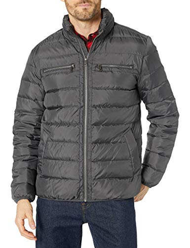 Cole Haan Signature Men's Packable Down Jacket, Grey, XX-Large