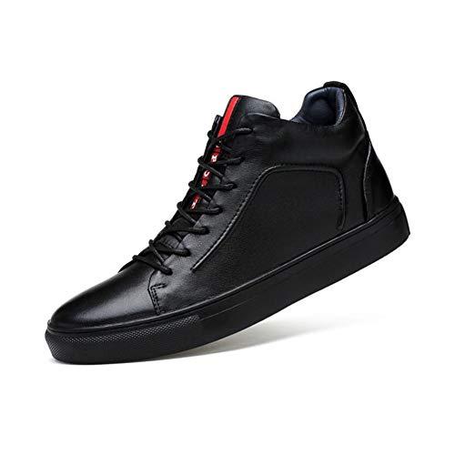 YAXUAN Laufschuhe Herren Deck Schuhe, Herbst Winter Mens High Help Plus Samt warme Schuhe Trend...