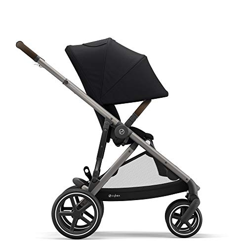 CYBEX Gazelle S Stroller, Modular Double Stroller for Infant and Toddler, Includes Detachable Shopping Basket, Over 20+ Configurations, Folds Flat for Easy Storage, Deep Black