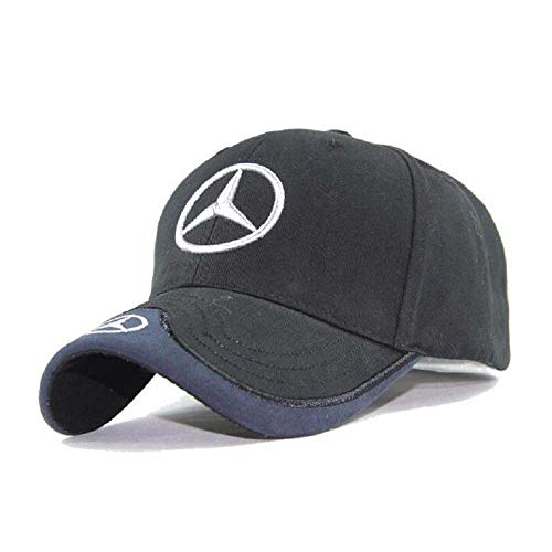 For Mercedes Benz Embroidered Logo Black Color Adjustable Baseball Caps for Men and Women