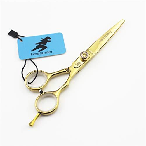 JIARUN Tijeras Profesionales de peluquería, Clipper de 5,5 Pulgadas de Pelo Dorado Adecuado para Todas Las Edades