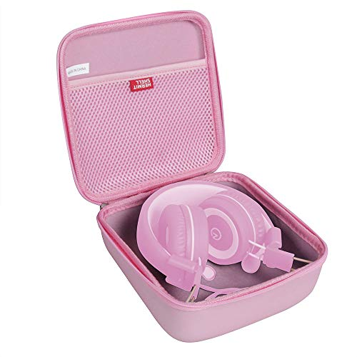 Hermitshell Travel Case for noot Products K11/Elecder i37/POWMEE M1/POWMEE M2/Mpow CH8/iRAG J01/noot Products K22/NIVAVA K8/noot Products K33/iClever/Sonitum Kids Headphones(Only Case) (Pink)