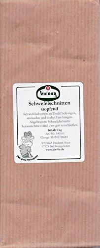 Schwefelschnitten, tropfend - asbestfrei - Toppreis!! 1 kg