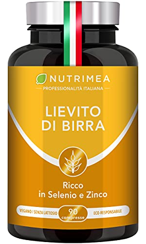 Lievito Di Birra | 1200 Mg Di Lievito Di Birra| Capsule Vegetali Per Capelli, Unghie E Benessere Della Pelle | Formula Con Selenio E Citrato Di Zinco | 90 Compresse Per Cura Di 1 Mese
