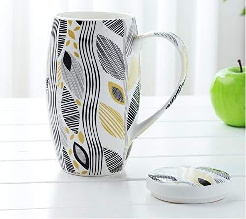 Chanety,taza de agua aislada,taza de agua Taza de café grande de 700 ml, taza de café de la copa de cerámica, taza grande, regalo de la taza de la Navidad, taza grande de porcelana, taza de esmalte Ta