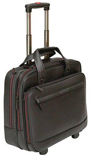 Tassia PU Leather Look Laptop Trolley - Twin Carry Handles