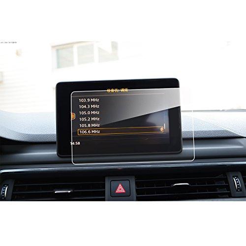 SHAOHAO Protector de pantalla para navegación, para A4 B9 A5 Q5 de 7 pulgadas GPS, transparente, resistente a los arañazos 9H antihuellas, cristal templado