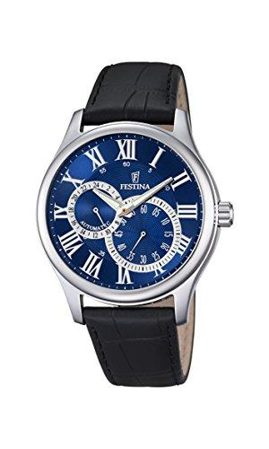 Festina Herren Analog Automatik Uhr mit Leder Armband F6848/2