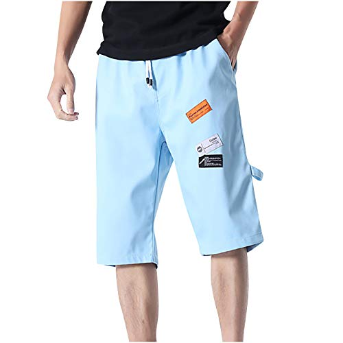 2021 Nuevo Pantalones Hombre Verano Casual Moda Pantalones tallas grandes Deportivos Color sólido Suelto Jogging Pantalon Gym Fitness Cortos Pantalones playa Bañador bolsillo Chándal de hombres