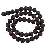 Perlas de piedras preciosas de 8 mm y 6 mm, mate, grado A, piedras semipreciosas, selección de piedras preciosas esmeriladas (jaspe rectificado de amapola, 8 mm)