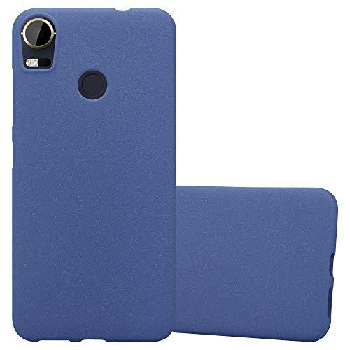 Cadorabo Funda para HTC Desire 10 Pro en Frost Azul Oscuro - Cubierta Proteccíon de Silicona TPU Delgada e Flexible con Antichoque - Gel Case Cover Carcasa Ligera