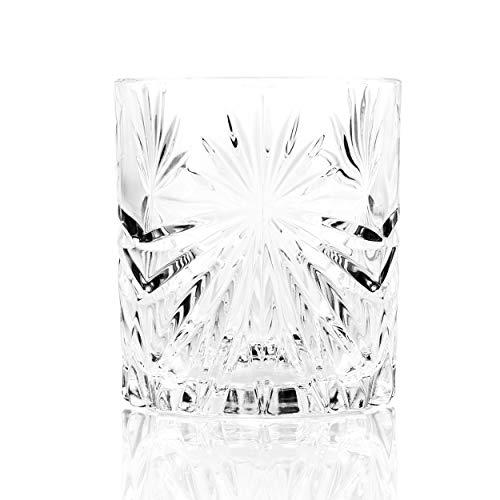 RCR Oasis Bicchieri Corti D'acqua per Whisky in Cristallo Vetro Trasparente, Confezione da 6