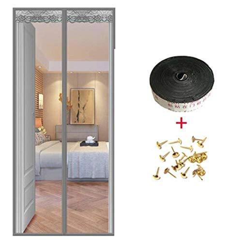 COAOC Mosquitera Puerta Mosquiteras Correderas con Durable Anti Insectos Moscas y Mosquitos para Puertas Correderas Gray 80x200cm(31x79in)