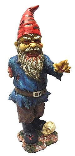 29,8cm spaventoso zombie Nano da giardino con un braccio e Skull statue