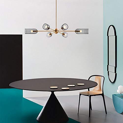 Warm Home minimalistische hanglamp van smeedijzer Nordic van rookglas lamp uit gouden grijs schaduw verlichting slaapkamer woonkamer restaurant Villa maat 100